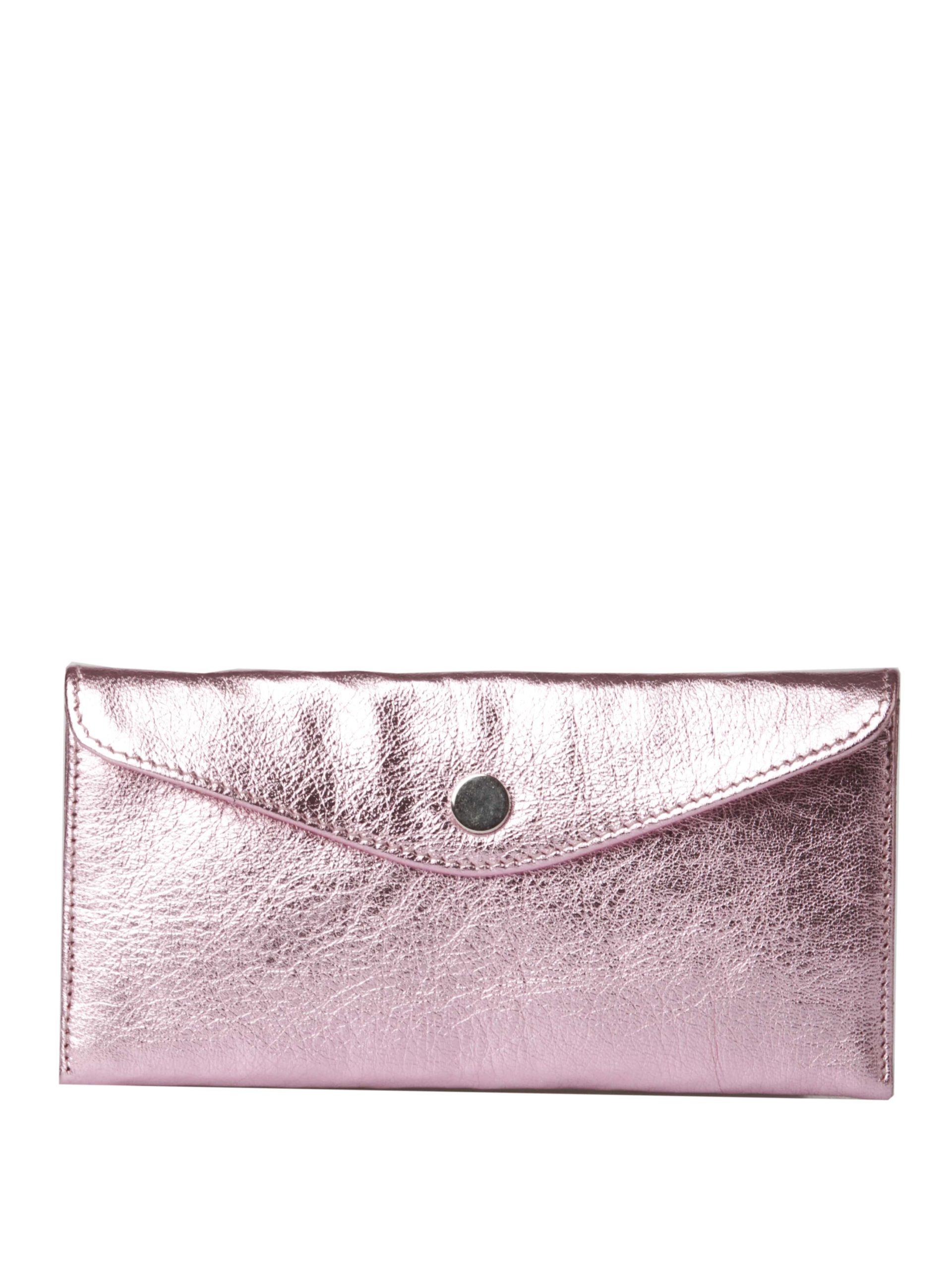 женский клатч розовый