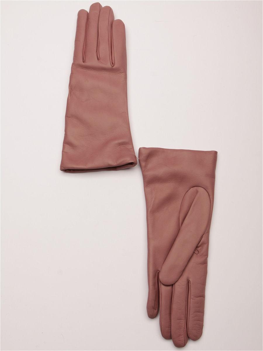 кожаные перчатки розовые