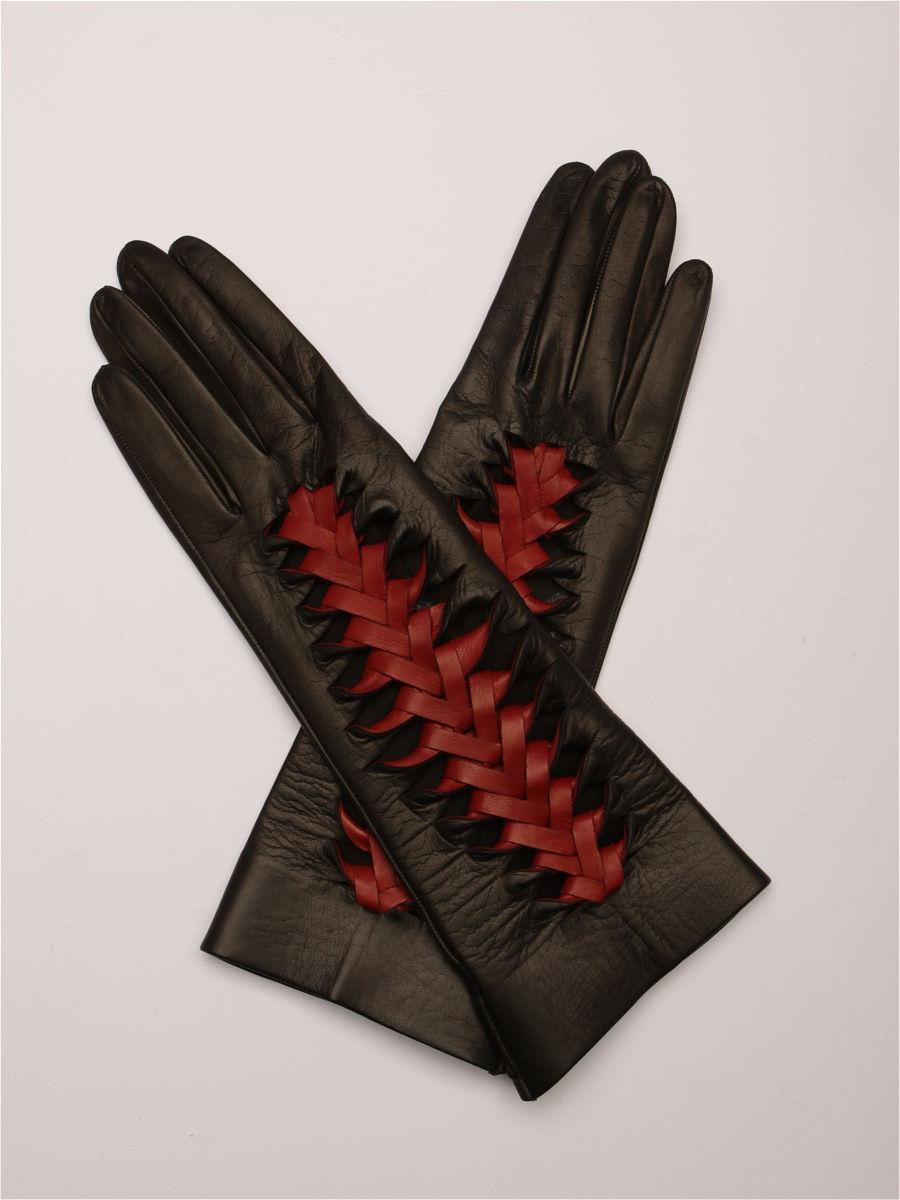 кожаные перчатки черные