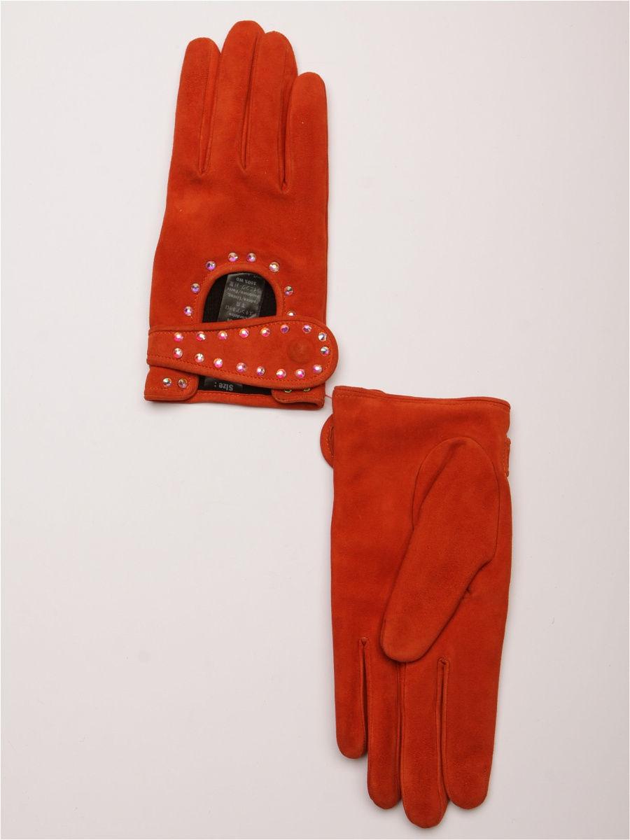 женские перчатки оранжевые