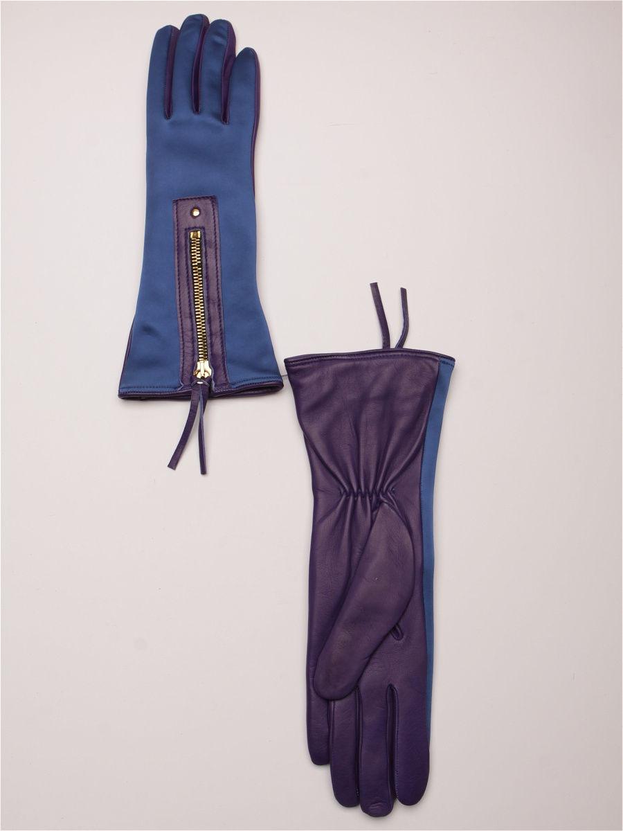 женские перчатки синие