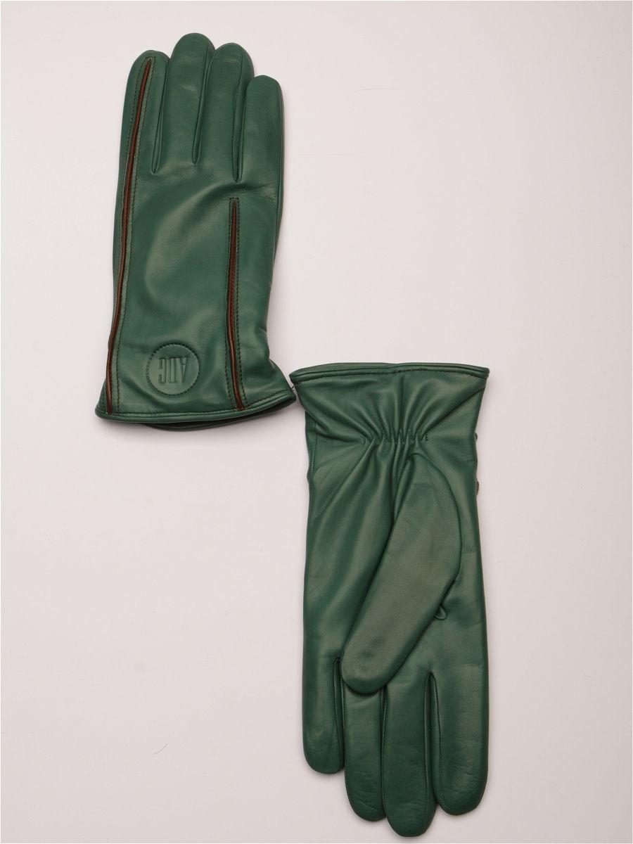 кожаные перчатки зеленые