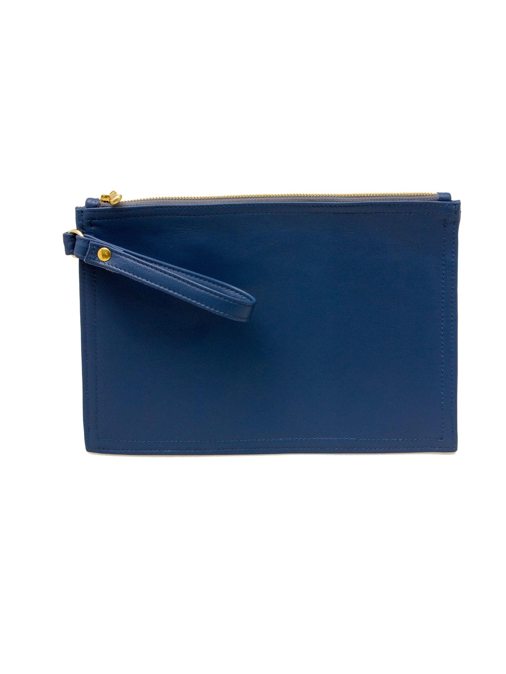 клатч конверт синий купить